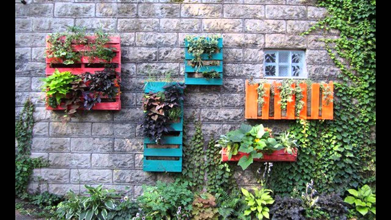 Ideas de decoraci n de la pared exterior exterior wall for Ideas jardines exteriores