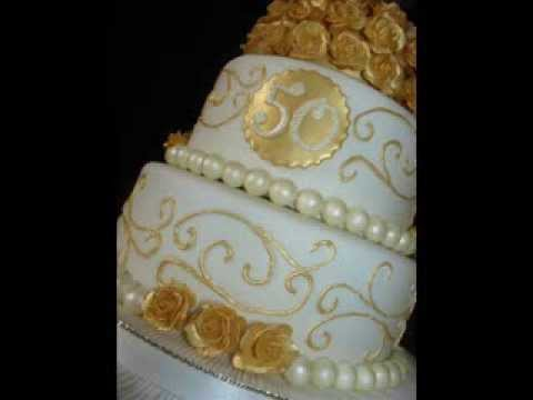 50th Wedding Anniversary Cake Ideas