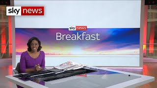 Sky News Breakfast: The Prime Minister pushes on with lifting England's lockdown