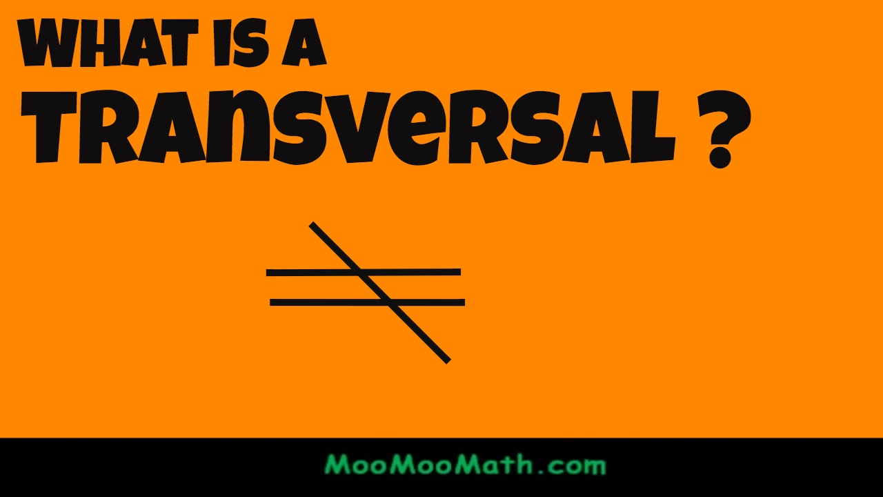 What is a transversal in geometry? - YouTube