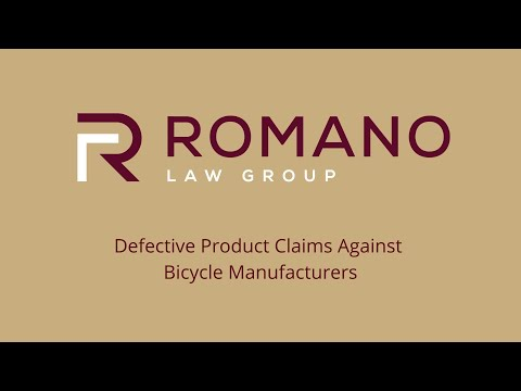 Defective Product Claims Against Bicycle Manufacturers - Personal Injury Attorney John Romano