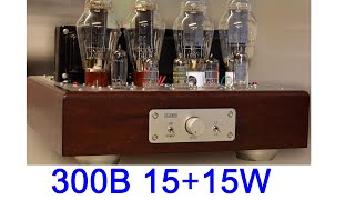 FLUXION 300B PP tube audio amplifier F/M-K5 building and testing