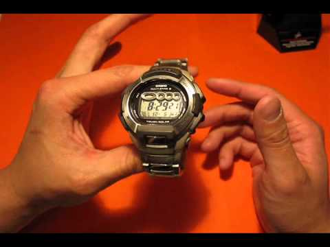 Casio 810D G-Shock Solar Atomic Watch Review