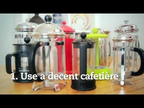 Five steps to the perfect cafetière coffee by Cafedirect