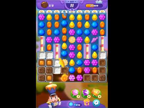 Candy Crush Friends Saga Level 857 - NO BOOSTERS 👩‍👧‍👦 | SKILLGAMING ✔️