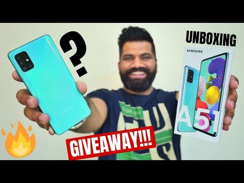 Samsung Galaxy A51 Unboxing & First Look - New Launch #AwesomeIsForEveryone GIVEAWAY