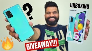 Samsung Galaxy A51 Unboxing & First Look - New Launch #AwesomeIsForEveryone GIVEAWAY🔥🔥🔥