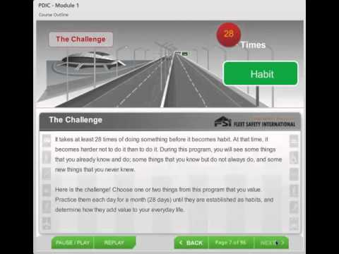 Professional Driver Improvement Program PDIC Online Course Preview