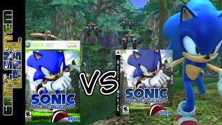 Sonic The Hedgehog 2006 Xbox 360 vs Playstation 3 graphics comparison (comparação gráfica)