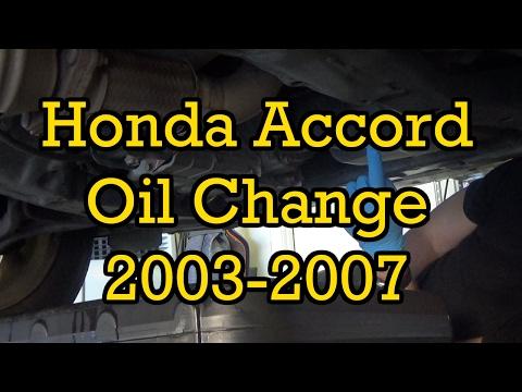 Honda Accord Oil Change 2004 2.4L (I4) (2003-2007 Similar)