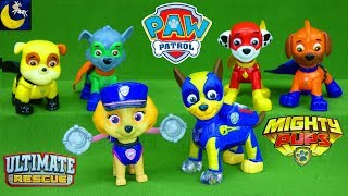 Paw Patrol Mighty Pups Chase Ultimate Rescue Police Pup Skye Policeman Flip and Fly Super Hero Toys