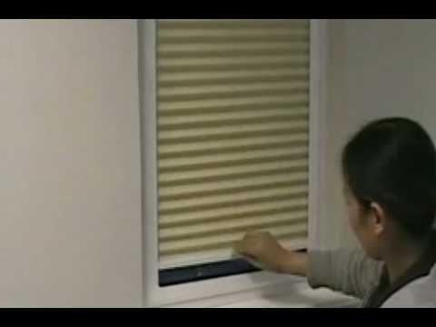 Perfect Fit Conservatory pleated Blinds dual operation - fitting