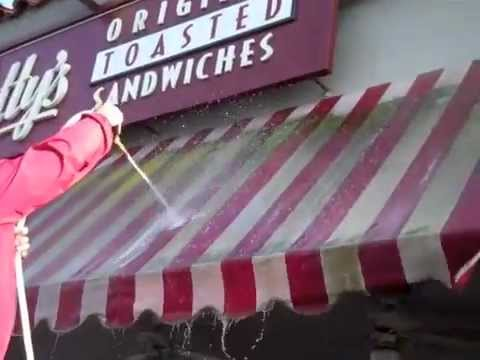 awning cleaning by jj window cleaning services youtube