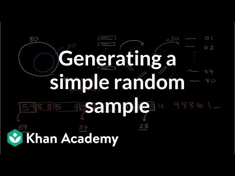 Techniques For Generating A Simple Random Sample   Study Design   AP Statistics   Khan Academy