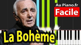 La Boheme Charles Aznavour Piano Cover Tutorial - PAROLES LYRICS