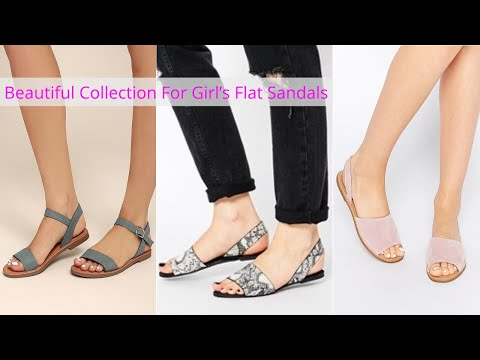 Tip Top New Designer Flat Sandals For College Girls, Beautiful Collection For Girl's Flat Sandals