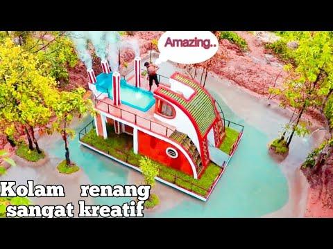 25 hari membangun kolam renang sangat kreatif di sekitar