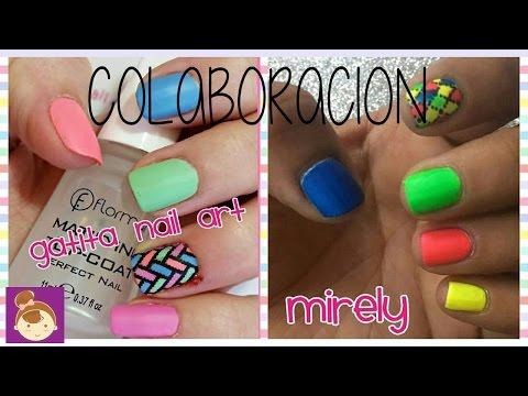 Diseño De Uñas De Colores Neon Diseño De Uñas Cortas