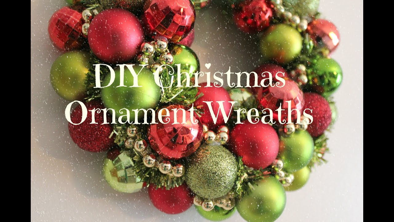 diy christmas ornament wreath tutorial youtube - Christmas Bulb Decorations