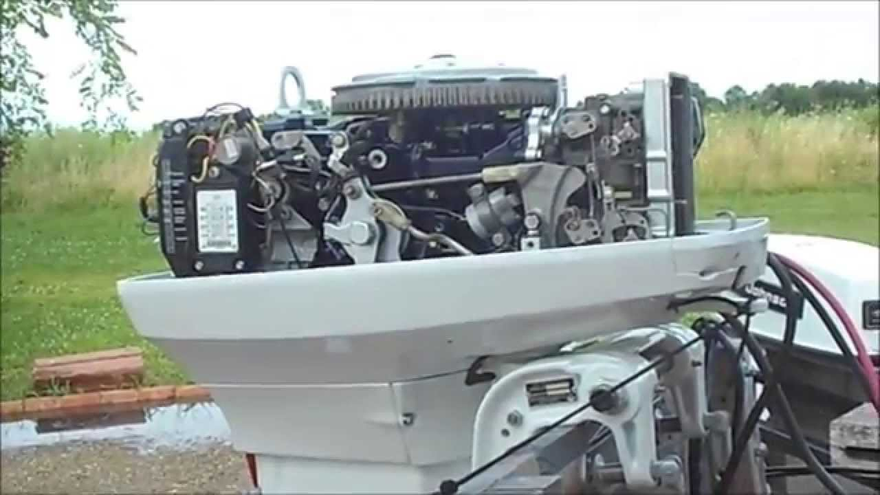 1973 Johnson 50hp Outboard Beautifully Restored Youtube