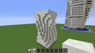 Minecraft Tutorial: Building Rotated Structures