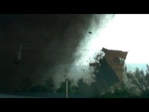 VIOLENT TORNADO WARNING - Flying Roof, House Destruction, Victims & Survivors