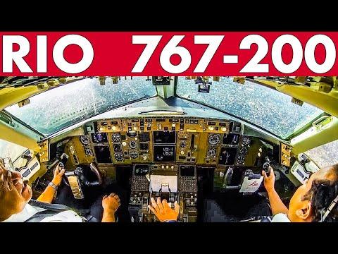 Piloting BOEING 767-200 into RIO Brazil