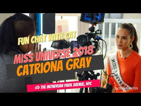 #MissUniverse Catriona Gray's full ABS-CBN News interview PART1 SUPER FUN INTERVIEW