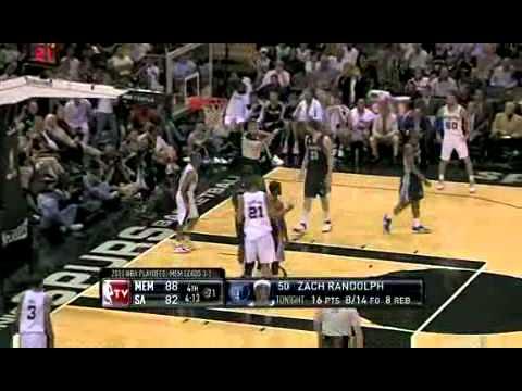 2011 NBA Playoffs: Grizzlies vs. Spurs Game 5 Recap (4/27/11)