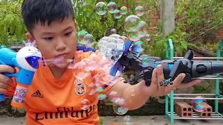 Trò Chơi Thằn Lằn Thổi Bong Bóng Xà Phòng ❤ ChiChi ToysReview TV ❤ Đồ Chơi Trẻ Em