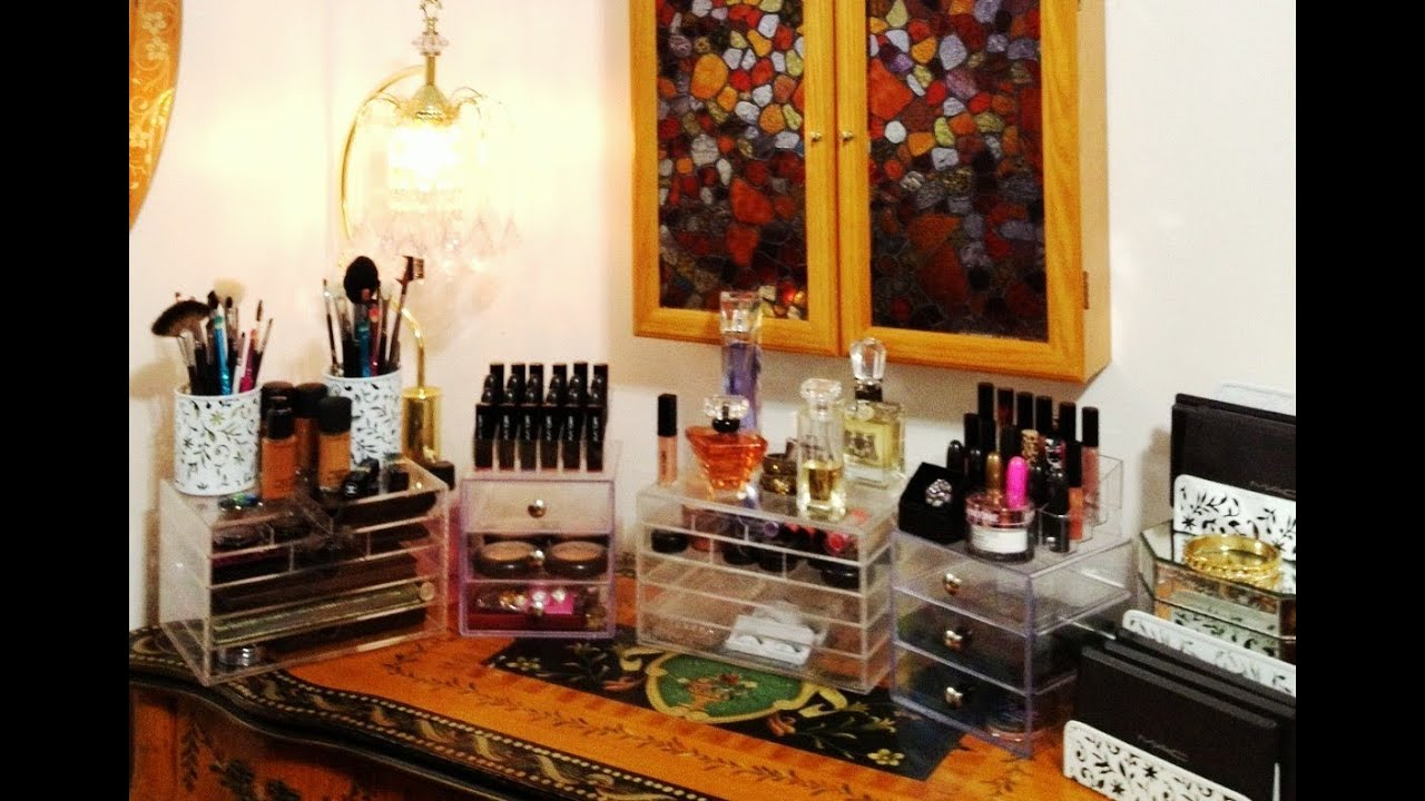 My NEW Acrylic Makeup Organizers The Clear Cubes Iu0027m So Organized Now    YouTube