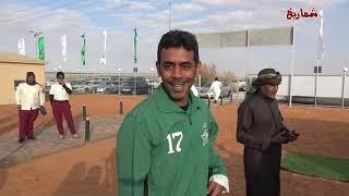 ديربي قداما لاعبي العربي والنجمة   - الاستعداد والإحماء