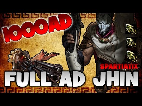 FULL AD JHIN - 1000AD | 100% CRIT | ONESHOT | LEAGUE OF LEGENDS