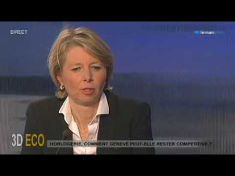 "Aletta Stas, co-founder & COO of Frédérique Constant on Swiss TV ""Léman Bleu"""