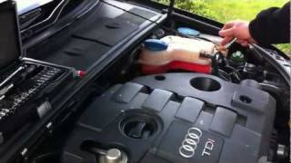 Audi A4 TDI tuning chip box install in reverse