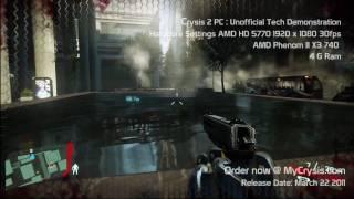 Crysis 2 PC HDMI 1080p: DX9 Med/High Tech Demo