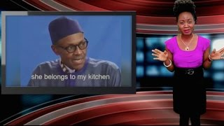 Nigerian President Says His Wife Belongs In The Kitchen!