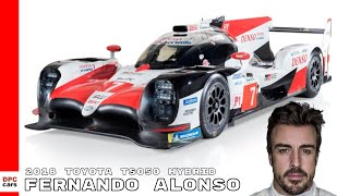 Fernando Alonso Driving 2018 Toyota TS050 Hybrid