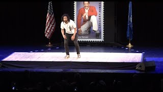Jason Samuels Smith performs at Gregory Hines Forever Stamp Unveiling