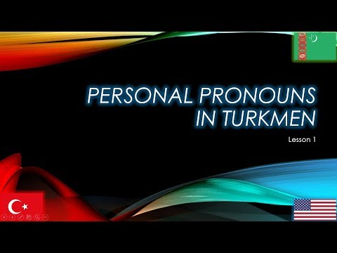 Personal Pronouns and the Present Tense of \