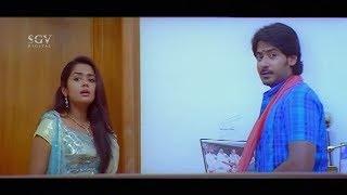 Heroine Shocked Seeing Prajwal Devaraj in Her Home | Doddanna | Gokula Krishna Kannada Movie