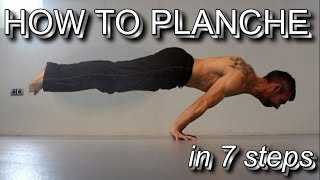 How to Planche in 7 Steps | Detailed Tutorial from Beginner Level to Mastery