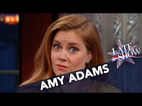 Amy Adams Is Oscar-Worthy In The Late Show's Eyebrow Theater