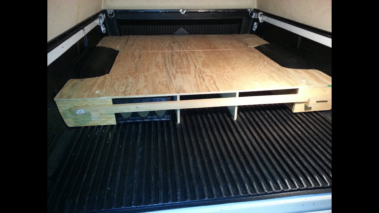 Home Made Camper Truck bed Box 1999 Tacoma - YouTube