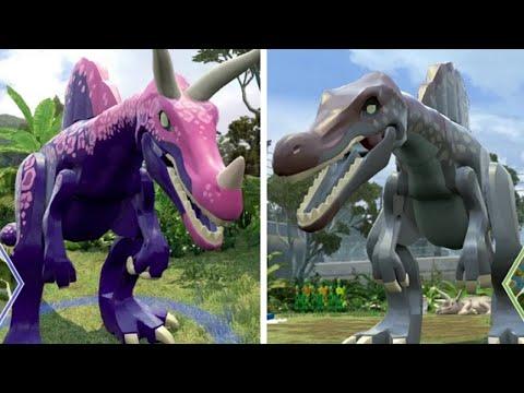 Lego jurassic world spinosaurus unlock location gameplay skeleton custom dinosaur - Lego dinosaurs spinosaurus ...