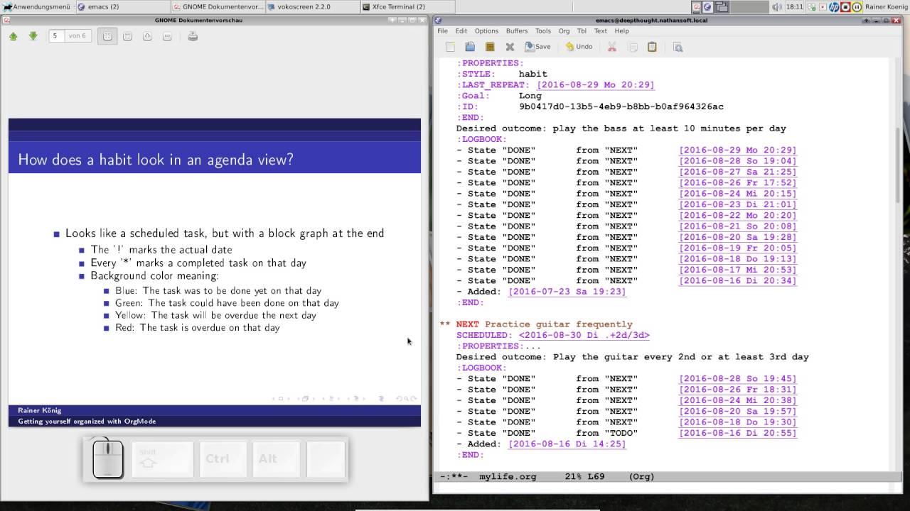 OrgMode E06S05: Tracking habits