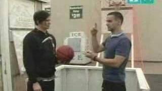 Tom DeLonge playing basketball