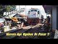 TANPA AMPUN!!, Kereta Kamandaka Ngebut Buanter di Pasar Banjaran Perlintasan Kereta Api JPL 20