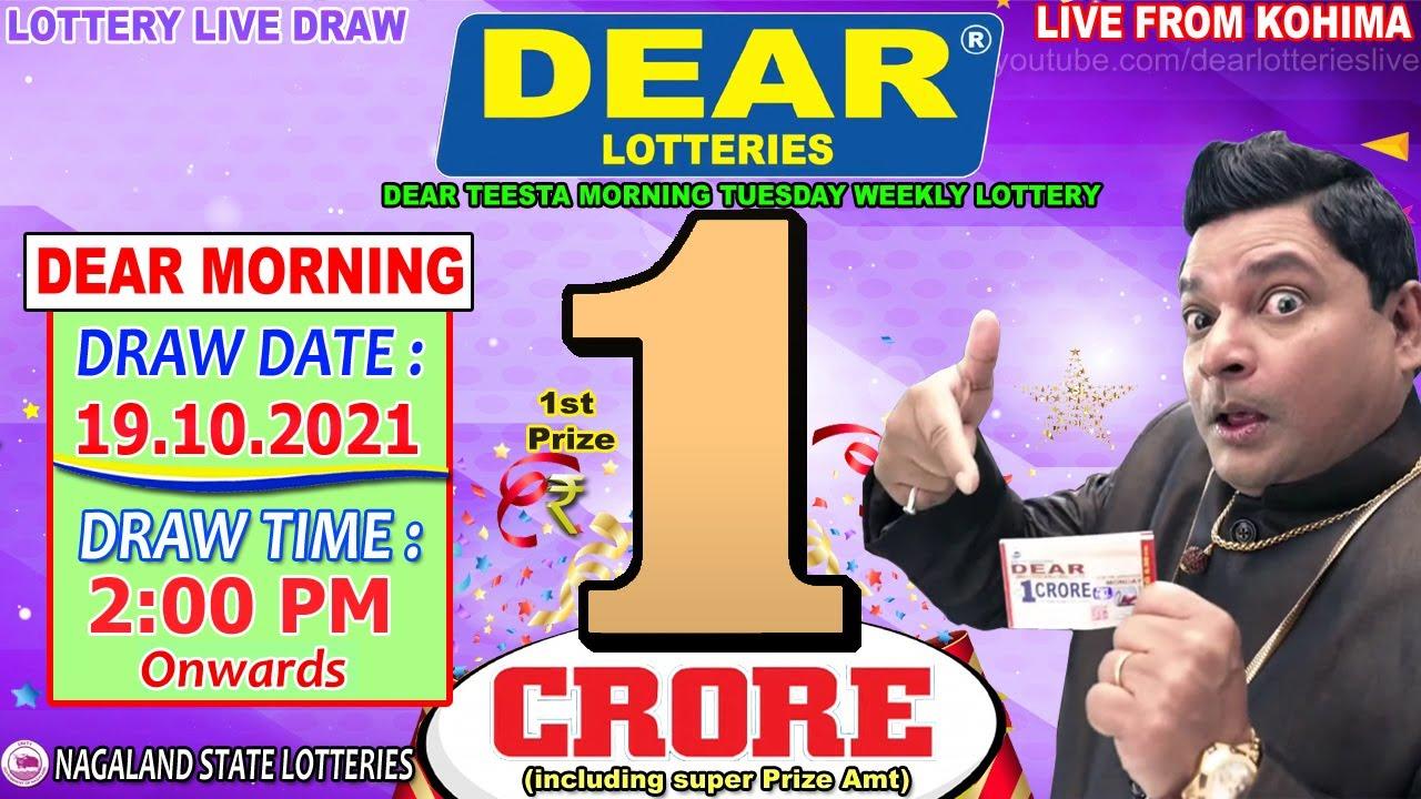LOTTERY LIVE DEAR MORNING 2:00PM 19.10.21 NAGALAND LOTTERY LIVE DRAW LOTTERY SAMBAD LIVE FROM KOHIMA