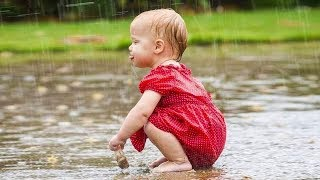 BEST FUNNY Cute Toddler Fails & Bloopers In The Rain | Funny Baby Videos